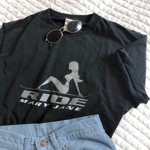 Vintage Tops - Vintage Snowboard T-Shirt | RIDE Snowboards